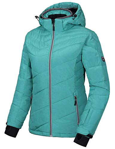 Little Donkey Andy Women's Warm Windproof Ski Insulated Jacket Water Repellent Winter Snowboarding Snow Coat with Detachable Hood Turquoise M
