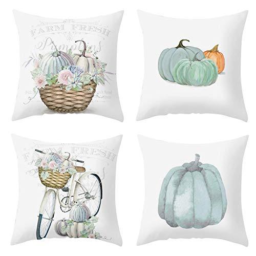 Fundas de Cojines Vintage Pluma Funda de almohada de Mezcla de lino para Jardin Cama Decorativo (01)