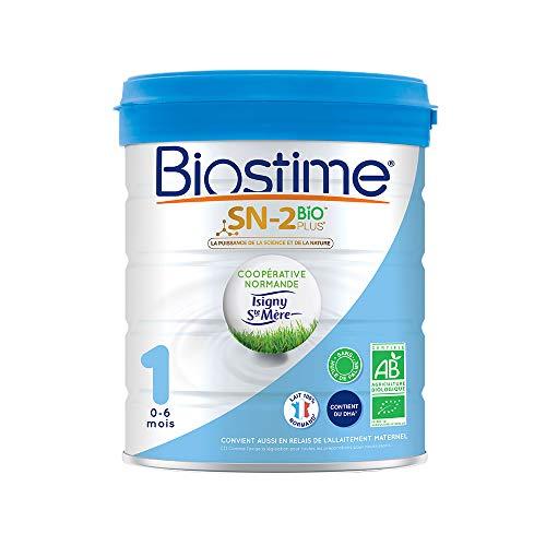 Biostime SN-2 Bio Plus - Lait infantile Bio 1er âge en poudre de 0 à 6 mois (800g)