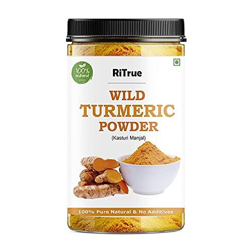 Mekong RiTru - Wild Turmeric Fine Powder 200 Gm - Kasthuri / Kasturi Manjal - Amba Haldi - Organic For Skin & Face Whitening