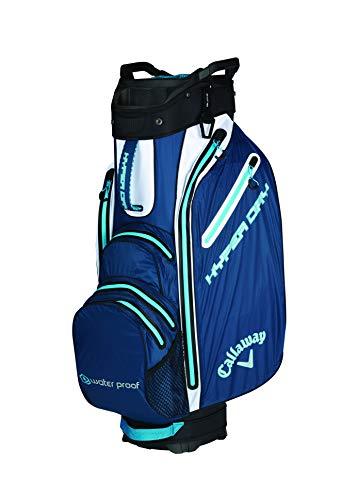 Callaway Hyper Dry Bolsa para Palos de Golf, Hombre, Azul Navy/Blanco, Talla Única