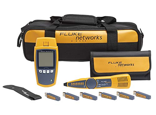 Fluke Networks - 5018513 MS-POE-KIT MicroScanner Copper Cable Verifier & PoE tester for RJ-45 Category 5-6A Ethernet Cables, Includes IntelliTone Pro 200 & Remote ID Kit