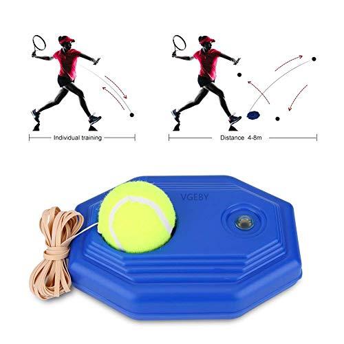 VGEBY Tennis di Palla Formazione e Corda in Gomma ad Alta Elasticità con Base Accessorio per Addestramento da Tennis