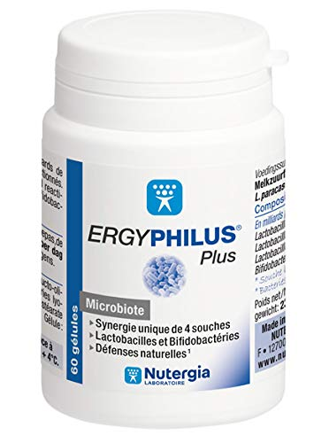 puissant Nutergia – Ergyphilus Plus – Natural Defense – Probiotiques – 3 Capsules 60 × 60 Pack