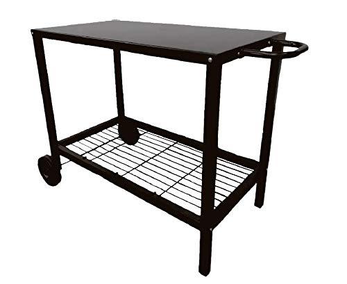 ACTIVA Grillwagen Grilltisch 106,5 x 56 x 73,5 | Metall Beistelltisch mit großer Abstellfläche, Rollwagen zum Grillen, Outdoorküche, Campingtisch, Dessertisch, Grill Tisch
