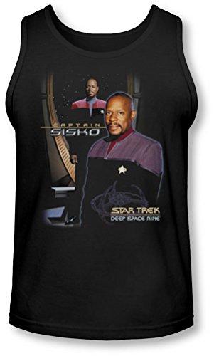 Star Trek - - Le capitaine Sisko Tank-Top pour hommes, Medium, Black