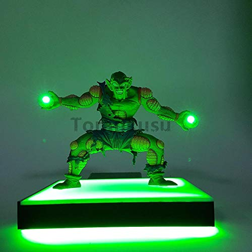 Nobranded Dragon Ball Z Piccolo Kamehameha Licht Led Grundmodell Spielzeug PVC animierte Figur Dragon Ball Super Goku Super Saiyajin Led DBZ