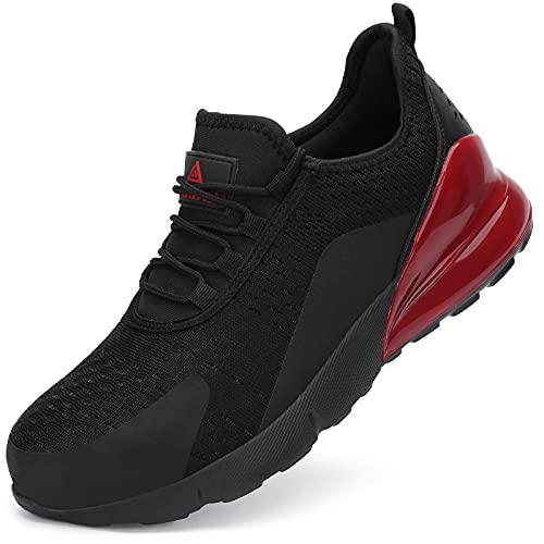 UCAYALI Zapatos de Seguridad Hombre Antideslizante Zapatillas de Trabajo con Puntera de Acero Ligeros Bambas de Seguridad Negro 105 Gr.43