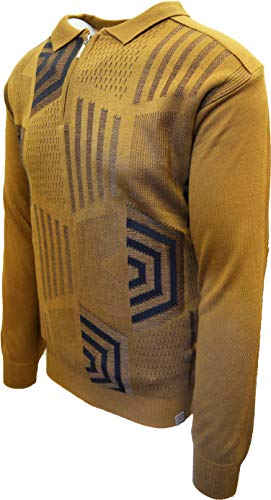 STACY ADAMS Men's Sweater, Honeycomb Jacquard Design (5XL, Tan)