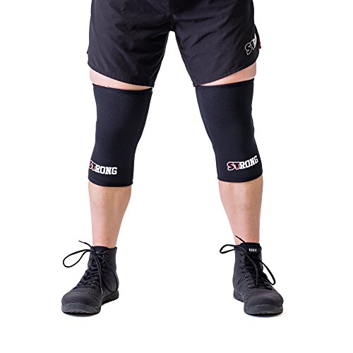 Sling Shot Mark Bell Strong Knee Sleeves, Black, XS