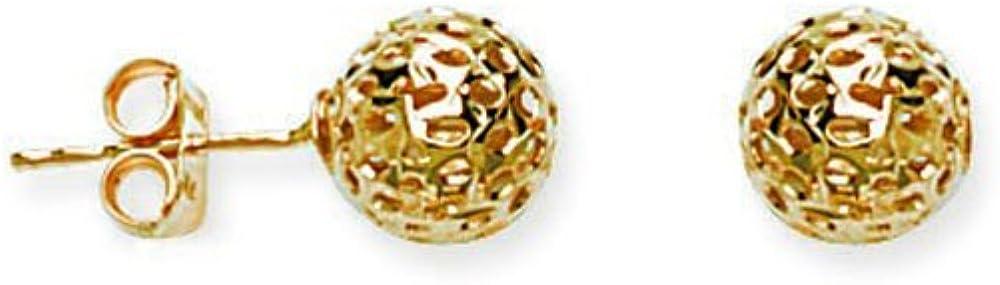 Ball Earrings, Hollow Laser Ball Stud Earring