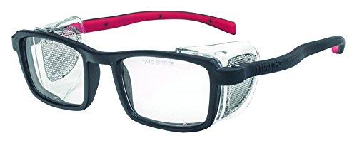 PEGASO 9R-Gafas Proteccion Gama GRADUABLES Neutra Modelo Normal Lente PC Incolora Antivaho, Negro Y Rojo, L