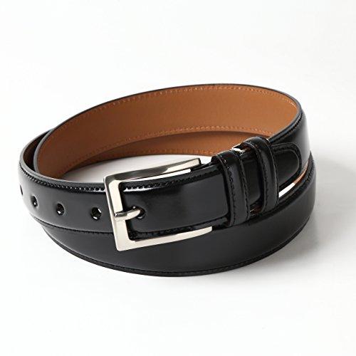 [オジエ] ozie【ベルト】メンズ・本革レザー(馬革コードバン/牛革)・フリーサイズ(サイズ調整可能)・日本製 ブラック黒