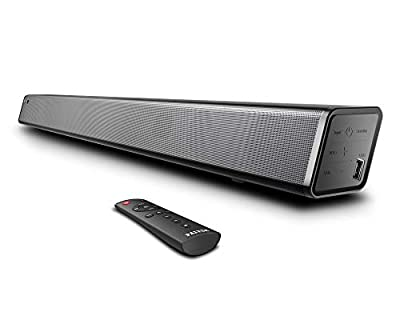 Soundbar, Paiyda Sound Bar for TV, 120 dB Bluetooth Soundbars with Built-in Subwoofer, Wall Mounted Home Theater, Music/Moive/News Modes, Strong Bass, Remote, Optical/AUX/Coaxial/USB Connection by Paiyda