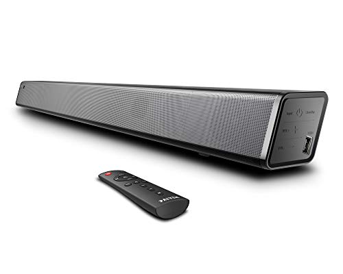 Photo of Soundbar, Paiyda Sound Bar for TV, 120 dB Bluetooth Soundbar with Built-in Subwoofer, Music/Moive/News Modes, Strong Bass, Remote, Optical/AUX/Coaxial/USB Connection,Wall Mounted Home Theater