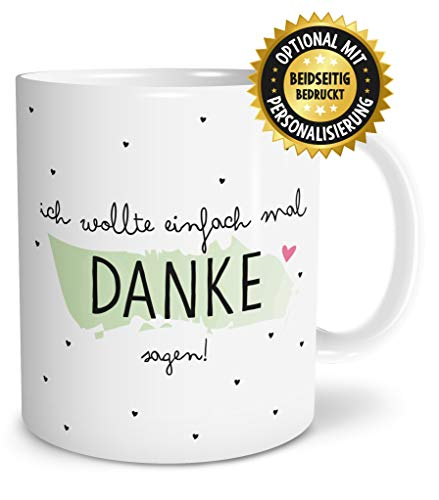 OWLBOOK Danke Sagen große Kaffee-Tasse mit Spruch im Geschenkkarton geliefert schöne Geschenkidee Geschenke für Deine Liebsten