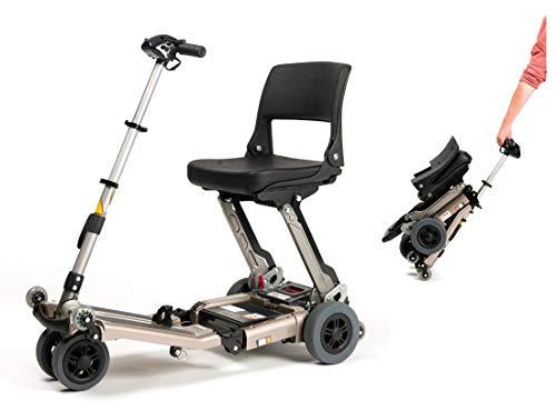 FabaCare Elektromobil Luggie, Seniorenmobil Set mit Tasche, Senioren Scooter faltbar, E-Roller mit Sitz, 6 km/h, 20 km, bis 114 kg
