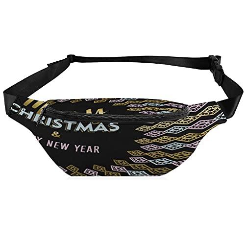 Fanny Pack Waist Packs for Men Women Merry Christmas Golden Diamond Waist Bag Hip Pack for Travel Hiking Running Outdoor Sports Casual Waist Pack Belt Pouch Kids