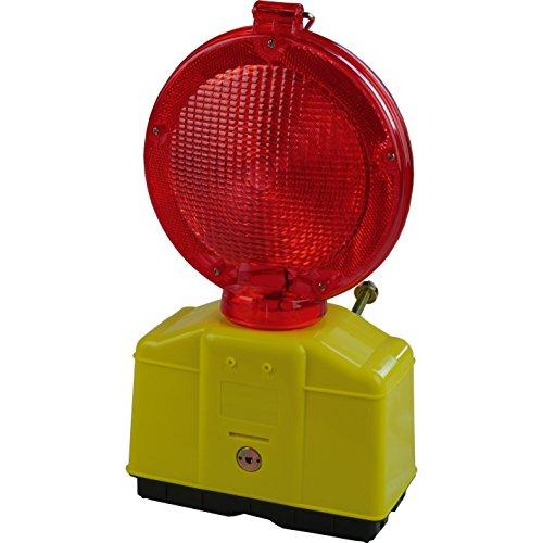10 Stück Baustellen Warnleuchte Rot mit LED-Technik, inkl. 10 Schlüssel zum öffnen