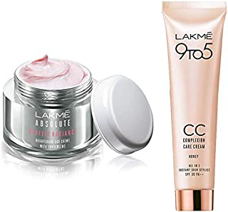 Lakmé Perfect Radiance Fairness Day Creme 50 g & Lakme 9 to 5 Complexion Care CC Cream, Honey, 30g