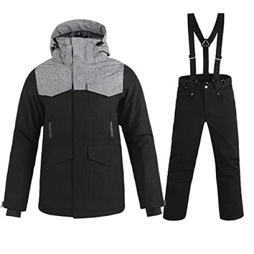 NGHXZ Skianzug Herren Winter Wasserdichter Mantel Hochwertige Snowboard-Sets Schwarze Farbe Optionale Skisets, Sets2, L.