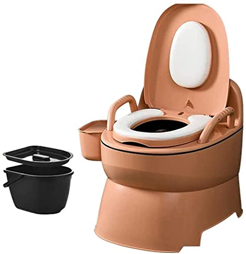 WXking Camping Toilet Portable Toilet Mobile Emergency Toilet With Toilet Paper Holder Suitable for Outdoor Emergency Situations Camping And Sleeping Size With a solid barrel