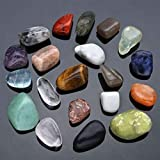 WWXP Cristallo Naturale Moda 20pcs Blu Calcite Cristallo Naturale delle Pietre preziose Tumbled Stone Beads Reiki Point Chakra Healing Minerali Cristalloterapia Reiki