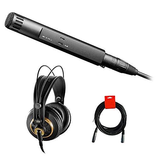 Sennheiser MKH 50 P48 Microphone with AKG K 240 Studio Pro Headphones & XLR-XLR Cable Bundle