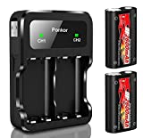 Ponkor Battery Xbox with High-Speed Charger, 2x2600mAh Xbox Rechargeable Battery Pack for Xbox Series X|S/Xbox One/Xbox One S/Xbox One X/Xbox One Elite Wireless Controller