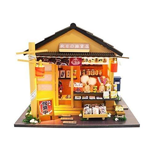 DIRIGIÓ Tienda de comestibles japoneses Muñeca Modelo Modelo Niños Juguete BRICOLAJE MINIATURA DE MONTAJE, 1: 24 ESCALA IDEA DE REGALO DE LA HABITACIÓN CREATIVA PARA EL AMIGO ADULTO Amante Tamaño: 7.4