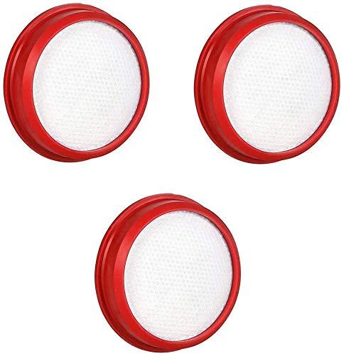 Ersatz Filter für Dibea D18/ E19/ E19 Pro Akku Staubsauger Kabelloser 2-in-1, Stick & Handheld Staubsauger, 3 Stück