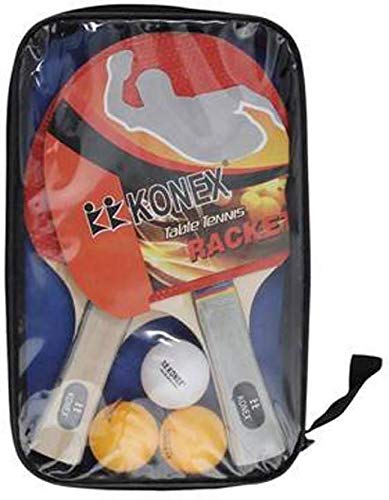 Konex 2 Table Tennis Racquets with 3 Premium 40 mm Balls (Free) with Cover