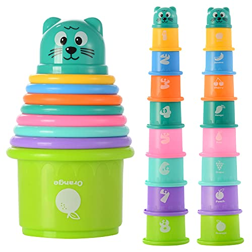 FWZXBK Stacking Toys Toddler Boy Gilr Toys for 6-36 Months,Stacking Cups...