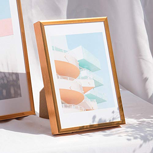 QKEMM Cadres Photo galerie d'images Souvenir Alliage D'Aluminium Moderne Simple 21 × 29,7 cm Titane B