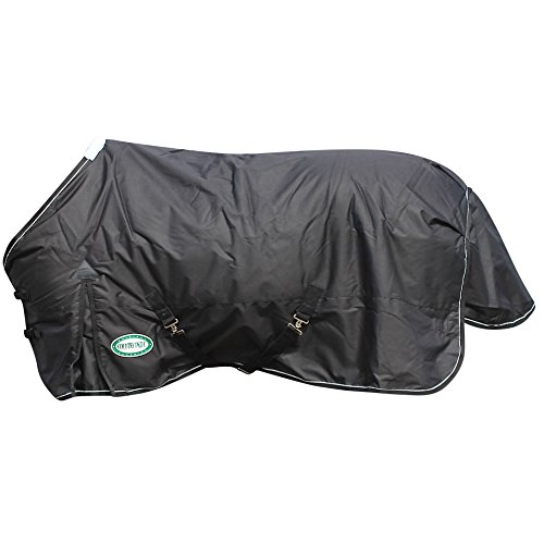 Country Pride SnowRidge 1200D Heavyweight Turnout Horse Blanket, Size 82, Black