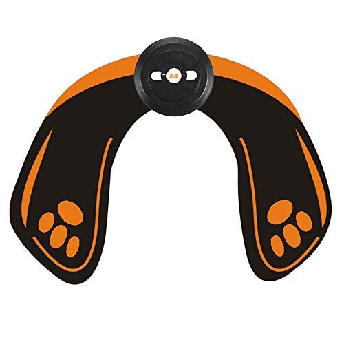 LIUXING Muskeltoner Abdominal Trainer EMS Wiederaufladbare Hip Trainer ABS Körpermuskelstimulation Trainings Buttocks Lifting Up Massage (Farbe : Schwarz, Größe : Einheitsgröße)