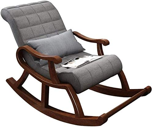 REWD schommelstoel, luie stoel massief hout schommelstoel Chinese vrije tijd oude stoel Nordic massief hout vrije tijd stoel Lazy lounge stoel huis Nap stoel