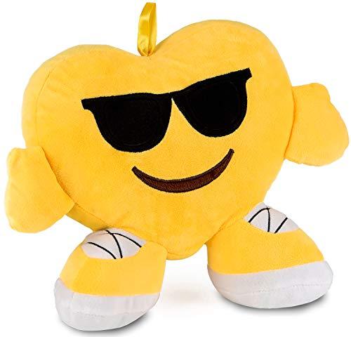 Brubaker Emoji Cojín de peluche – 32 cm – Gafas de sol