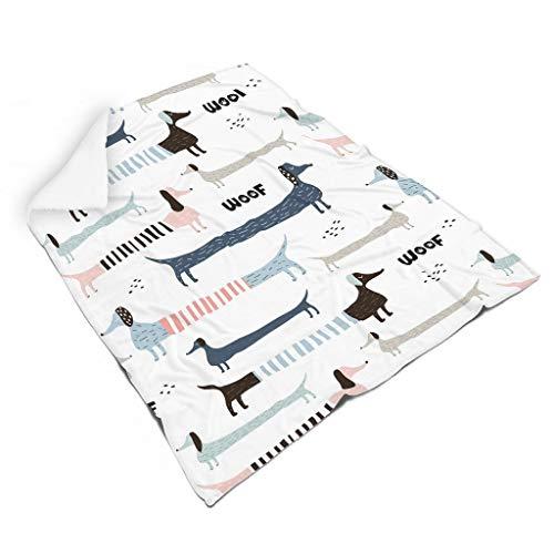 QVOOD Manta suave y cálida de franela para sofá, manta para dormir, manta de felpa, reversible, para adultos y niños, color blanco, 110 x 140 cm