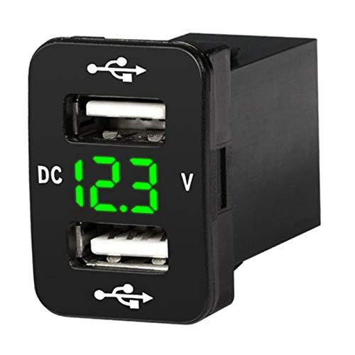 H HILABEE Toma de Corriente de Doble USB de Carga rápida, Toma de Corriente de Doble USB con Interruptor táctil para Coche - Green1