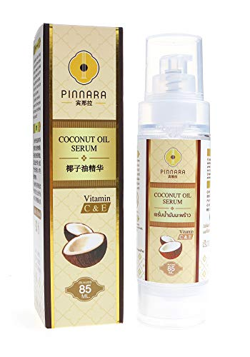 PINNARA Coconut Oil Serum Vitamin C & E for Face, Hands, Body and Hair 85ml by Tuki Naturals
