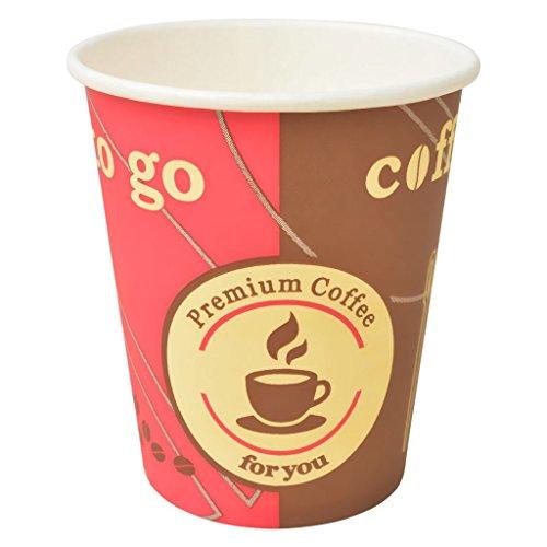 vidaXL 1000x Vasos Desechables de Café de Papel 240 ml Bebidas Frías Calientes