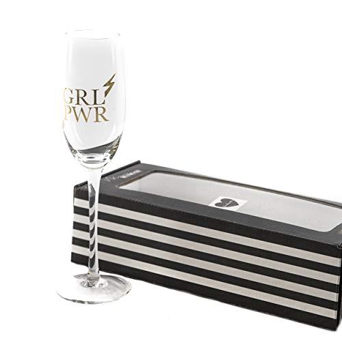Sektglas Glas GRL PWR | knuellermarkt24.de | Girl Power JGA Junggesellinnenabschied Hochzeit Gläser Gold handgemacht Wein Sekt Champagner