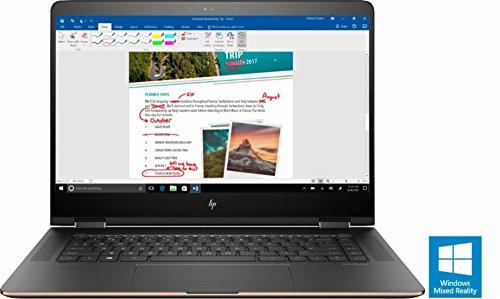 """HP Spectre x360 2-in-1 15.6"""" 4K Ultra HD Touch-Screen Laptop, Intel i7 8th Gen CPU (8550U, QUAD CORE)- 16GB Memory - 512GB SSD - Dark Ash Silver"""