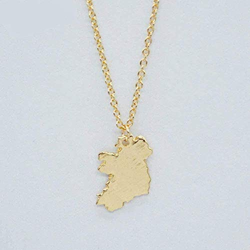 MGBDXG Co.,Ltd Necklace New Ireland Card States Pendant Necklace Ireland National Map Charm Necklace Patriot Jewelry