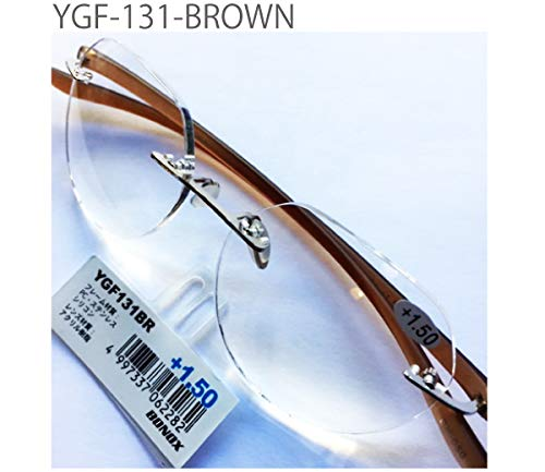 YGF131 老眼鏡 福祉 介護 ルーペ Reading Glasses シニアグラス ダルトン BONOX 男女兼用 敬老の日 プレゼント 母の日 (BROWN, 2.0)