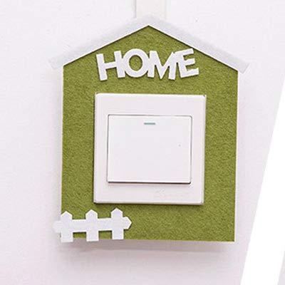 Yuzhijie Pegatinas de fieltro con interruptor hueco, pegatinas creativas para decoración del hogar, enchufes de fieltro (color: casa)