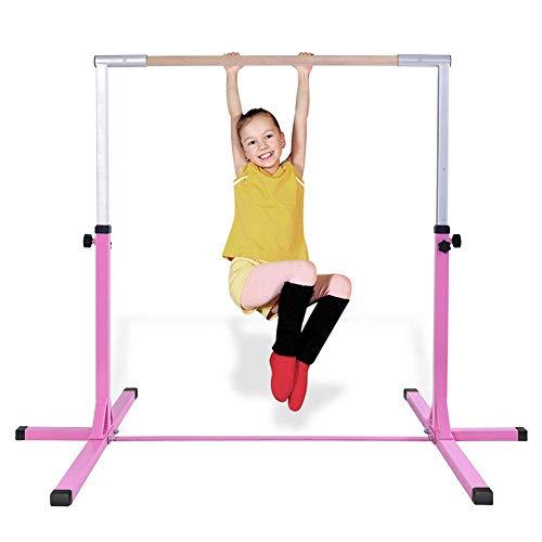LJYY Barra Ajustable para Gimnasia Infantil, Equipo de Barra Horizontal para Fitness en casa para Deportes en casa, Barra Horizontal de dominadas Gratis para Gimnasia