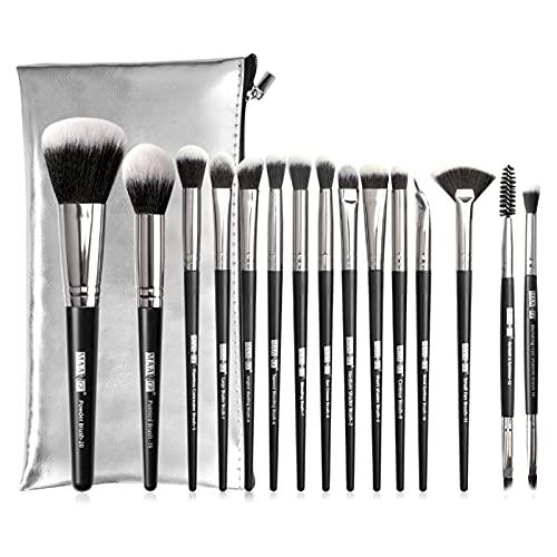 Set De Brochas Para Maquillaje De Profesional 15 Piezas