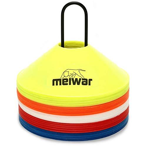 meiwar 50x Conos de Entrenamiento con Soporte y Bolsillo Multicolor